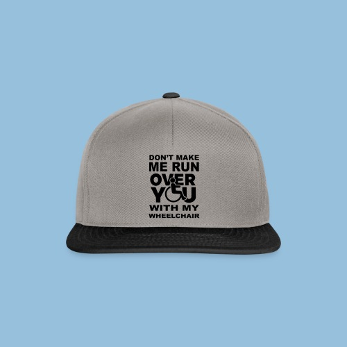 Runover1 - Snapback cap