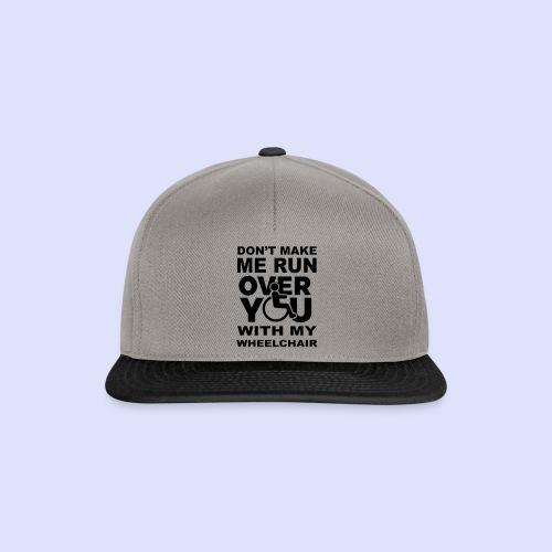Rolstoel humor 001 - Snapback cap