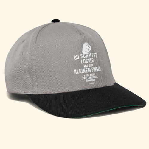 Frecher Spruch Zwei linke Hände T Shirt - Snapback Cap