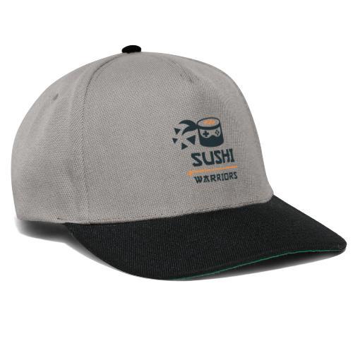 bunt dunkel Sushi Warriors Logo WortBild Dreiecke - Snapback Cap