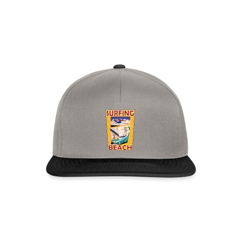 Surfing beach comic Urlaub t-shirt - Snapback Cap