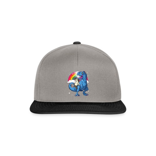 Dinosaurier mit Einhorn - Snapback Cap