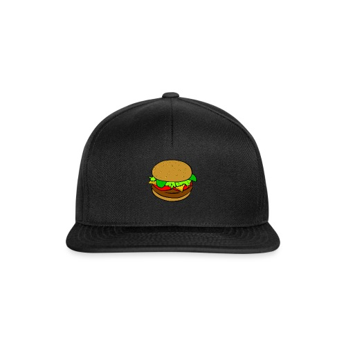 Hamburger motiv - Snapbackkeps