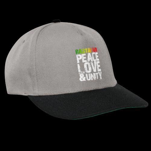 RASTAFARI - PEACE LOVE & UNITY - Snapback Cap