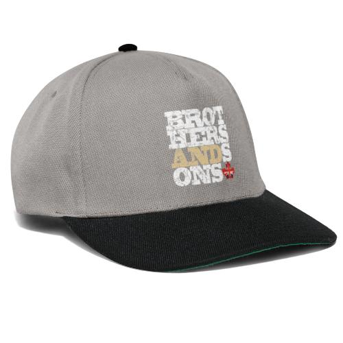 Brothers and Sons logo - light design - Snapback Cap