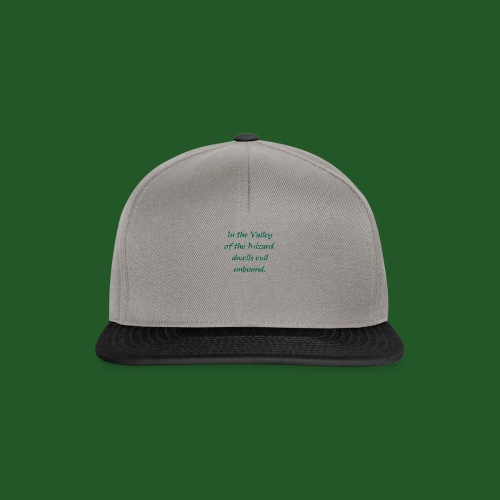In_Valley_of_the_Wizard-png - Snapback Cap