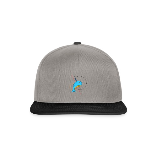 Baleine Cartoon - Casquette snapback