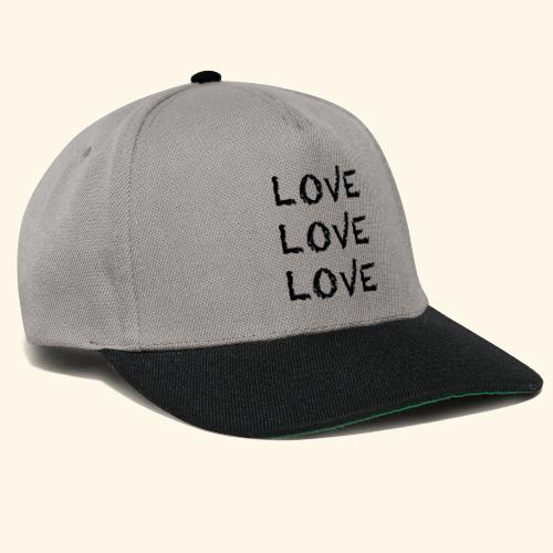 LOVE Black 001 - Snapback Cap