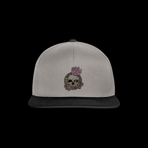 Skull tête de mort et fleur de lotus - Casquette snapback