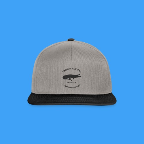 American Alligator black - Snapback cap