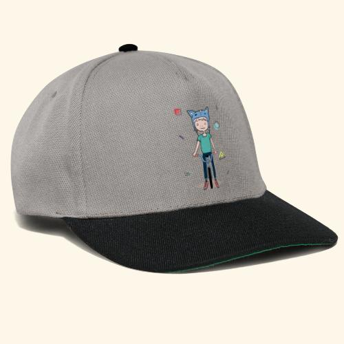 Girl with a cat hat on a bike - 90's - Casquette snapback