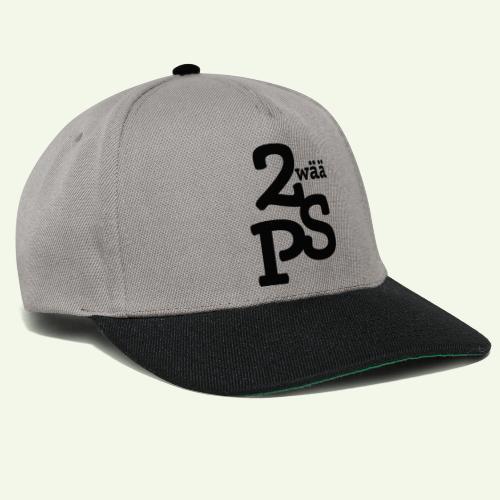 Zwää PS Logo schwarz - Snapback Cap