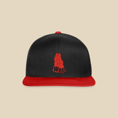 Red Wolf - Casquette snapback