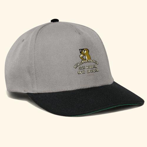 T-Shirt Nerdmännchen Erdmännchen für Geeks & Nerds - Snapback Cap