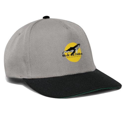 Welt zu Füßen Logo - Snapback Cap