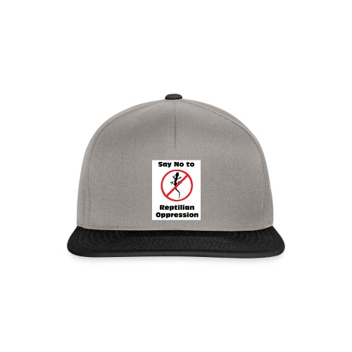 Say No to Reptilian Oppression - Snapback Cap