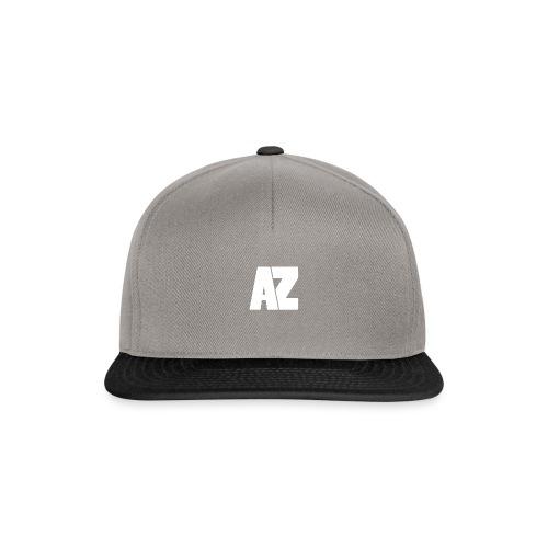 Androklez White Text - Snapback Cap
