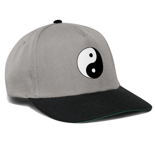 800px Yin yang svg 1 - Snapback Cap
