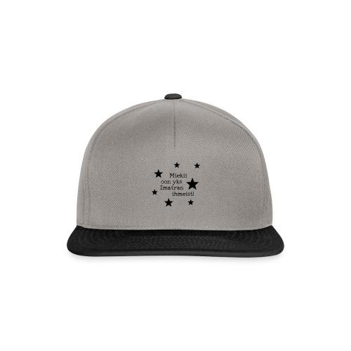Miekii oon yks Imatran Ihmeist lasten t-paita - Snapback Cap