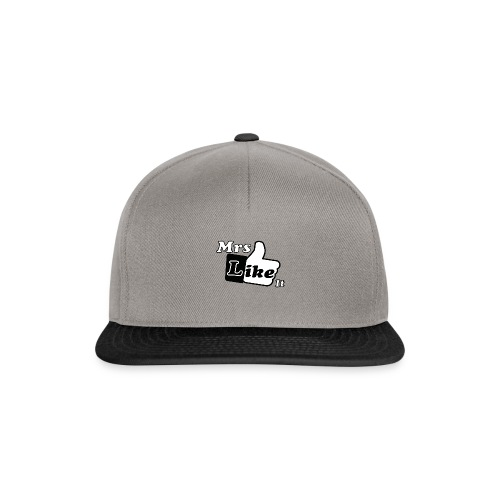 Mrs Like it - shirt (zwart-wit) - Snapback cap