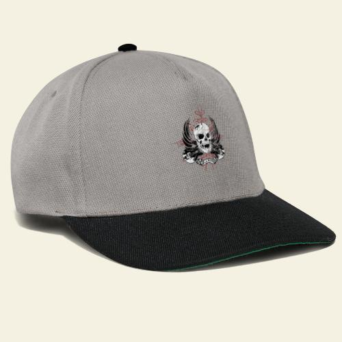 Grunge Rock N' Roll Skull - Snapback Cap
