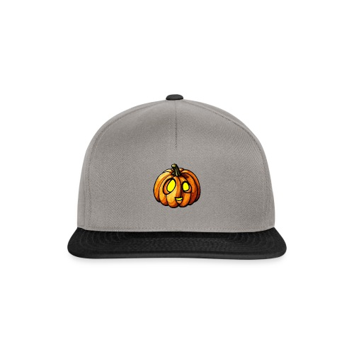 Pumpkin Halloween watercolor scribblesirii - Snapback Cap