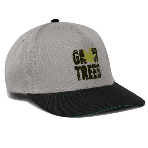 Grow Weed Trees Cannabis - Vintage - Snapback Cap