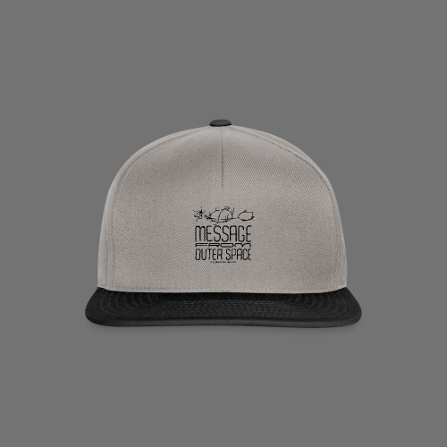 Message From Outer Space (musta) - Snapback Cap