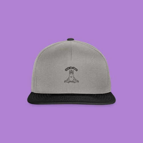 Chill the Bean black outline - Snapback Cap