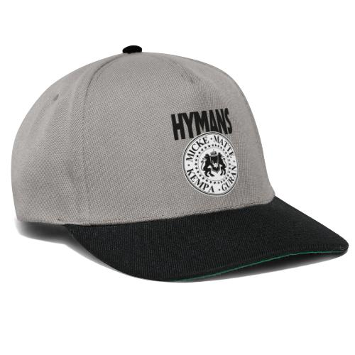 Hymans klassisk svart vit logo tryck - Snapbackkeps