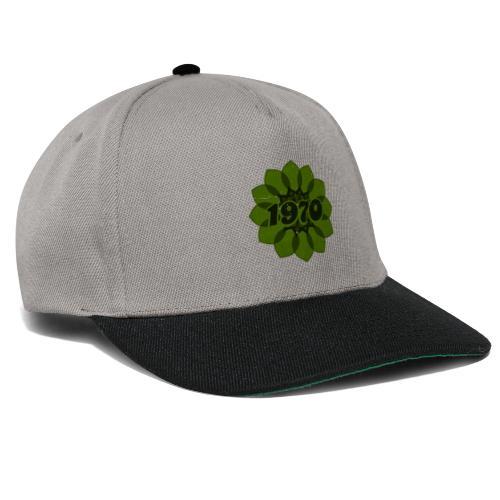 1970 retro flower - Snapback Cap