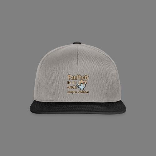 Faulheit - Snapback Cap