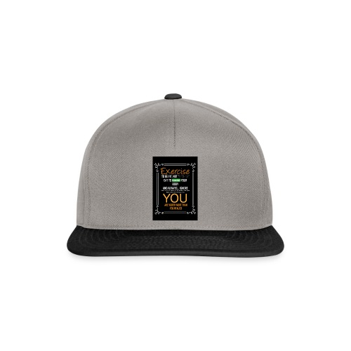 exercise to be fit, not skinny - Czapka typu snapback