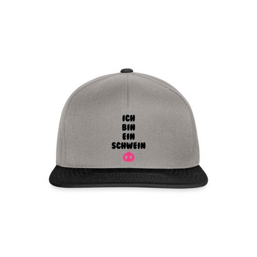Ich bin ein schwein - Snapback cap