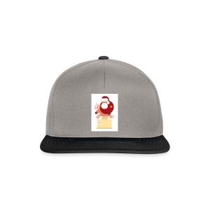 Kerstman op speelgoed rendier - Snapback cap
