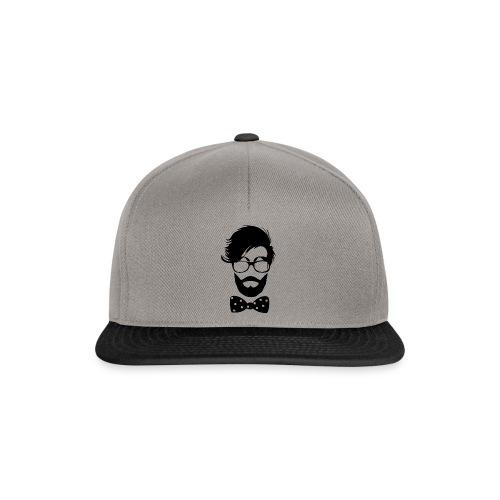 hipster_med_briller_og_butterfly - Snapback Cap