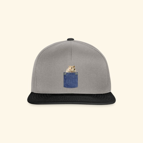 hamster in the poket - Snapback Cap