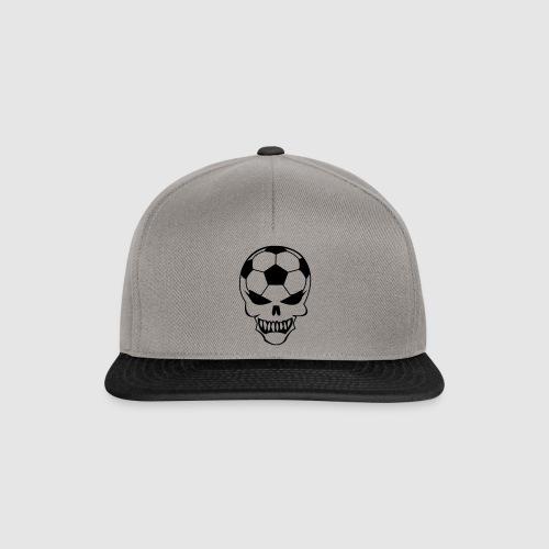Fußball-Totenkopf - Snapback Cap