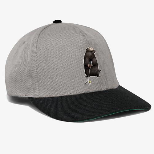 Mole Golfer for dark Ts - Snapback Cap