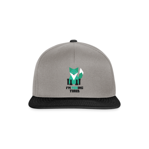 Foxing Tired - Edition Turquoise - Casquette snapback