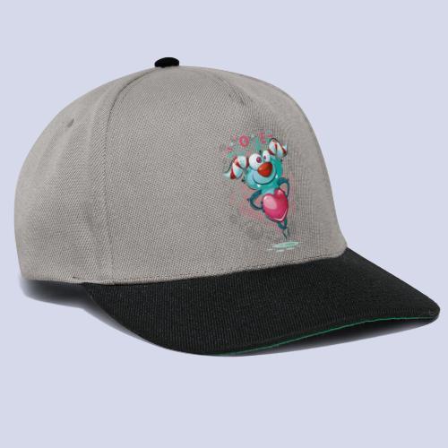 Monster cartoon love design - Snapback Cap