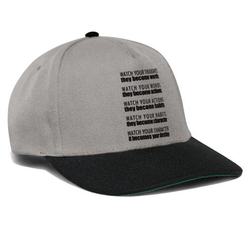 watch your thoughts - Snapback Cap