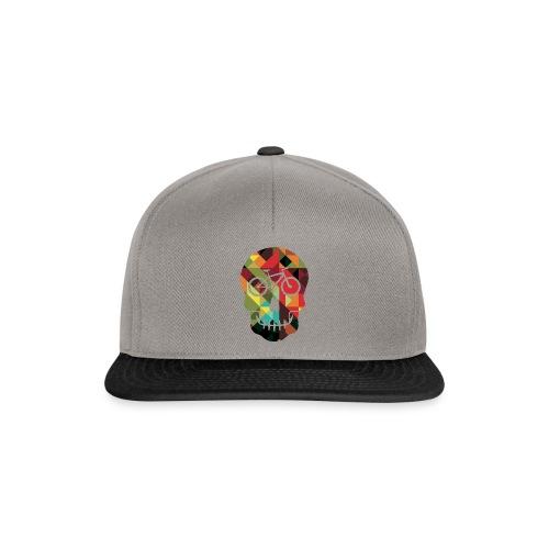 Colored Skull of Biker - Snapback Cap