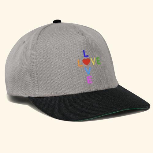 Rainbow Love. Regenbogen Liebe - Snapback Cap