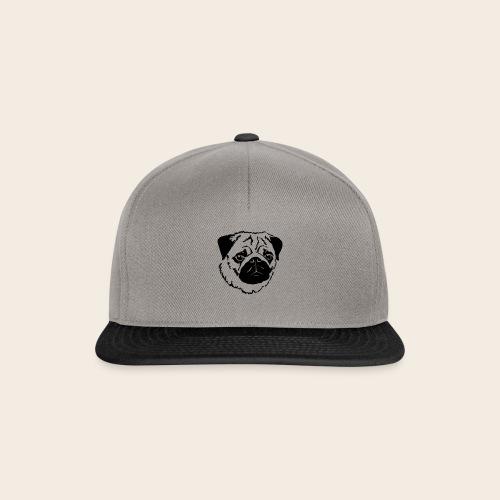 Mops Kopf - Snapback Cap
