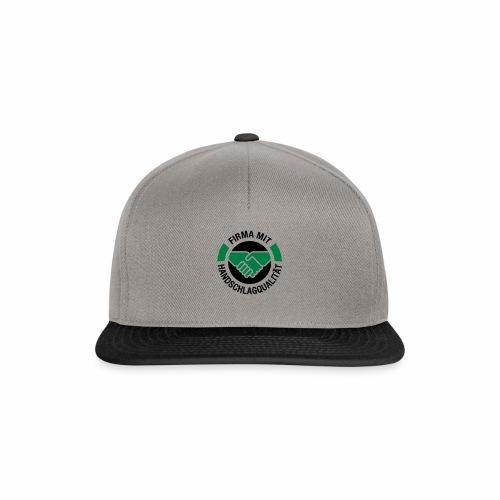 Handschlagqualität Logo schwarz - Snapback Cap