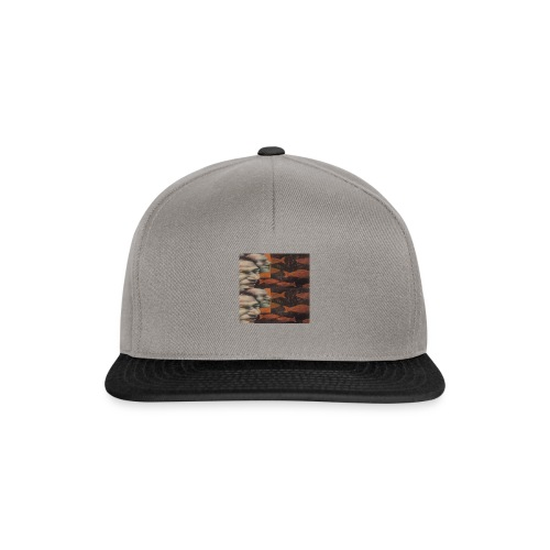 man and fish - Snapback Cap