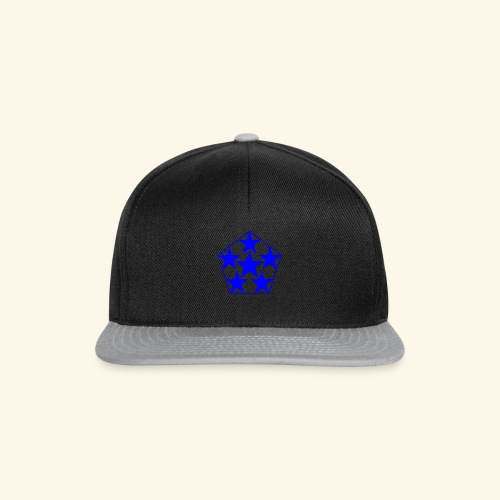 5 STAR Sterne blau - Snapback Cap