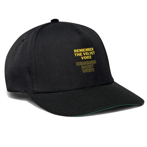 Remember the Velvet Voice, Barry White - Snapback Cap