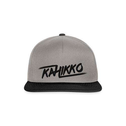 Kahikko Classic Logo Black - Snapback Cap